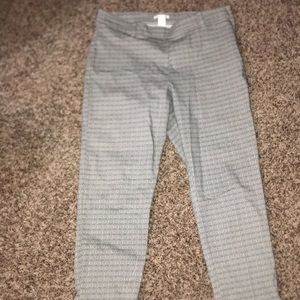 Blk/Cream Ankle Pants- Worn Once